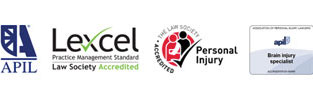 Investor in People, APIL, Lexcel, Personal Injury - The Law Society Accredited, APIL Brain Injury Specialist